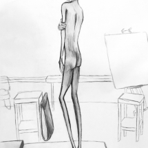 Proportions and Viewpoint Study | Live Model Sketch
