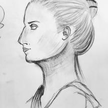 Profile Study | Live Model Sketch