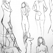 Proportion and pose study | Live model