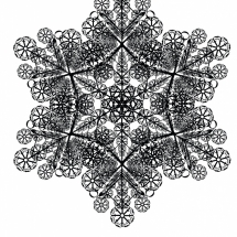 Letterform Snowflake G