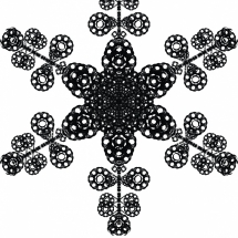 Letterform Snowflake E