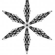 Letterform Snowflake D