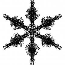 Letterform Snowflake B