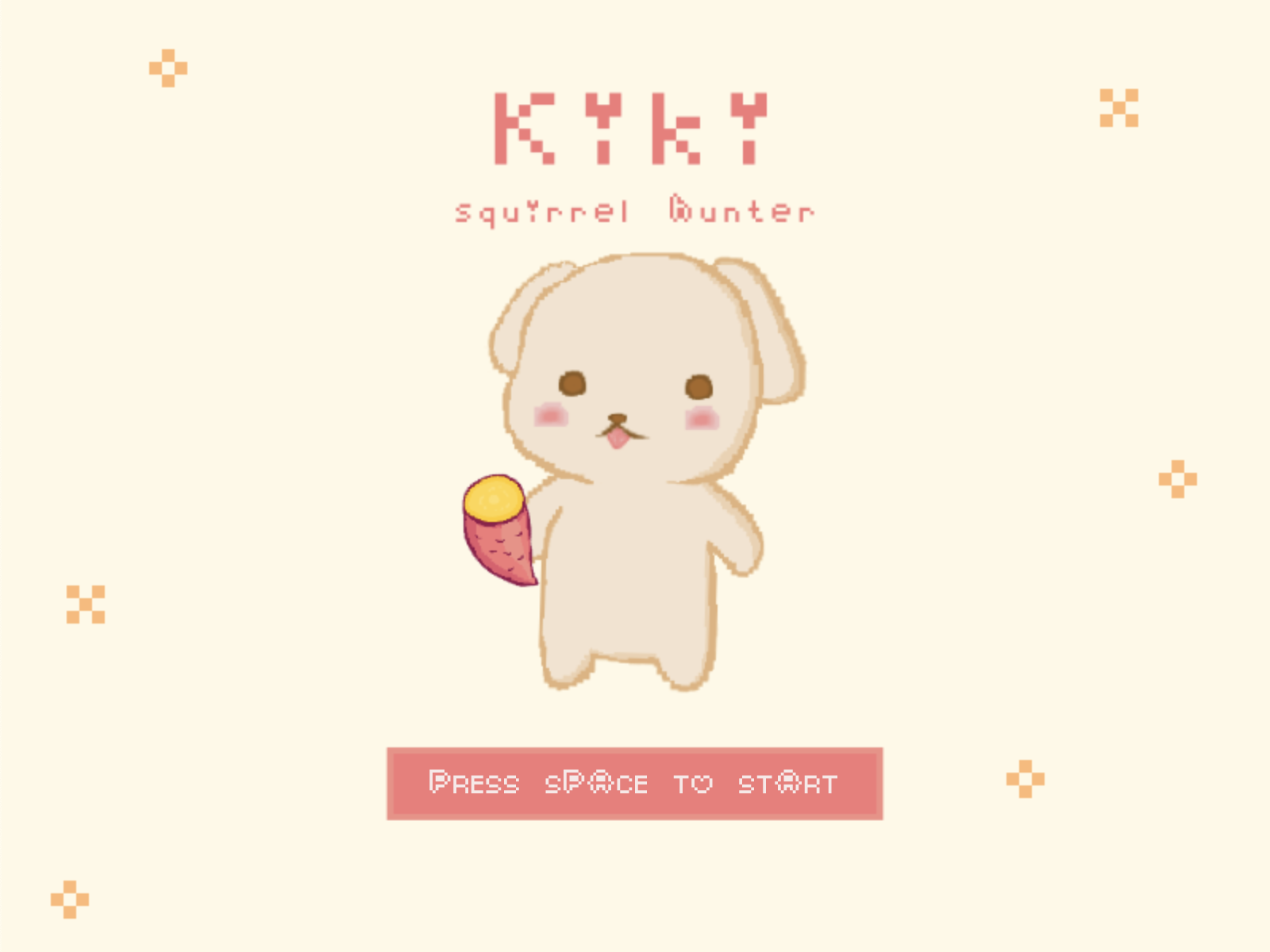 Kiki Squirrel Hunter | Starting Screen