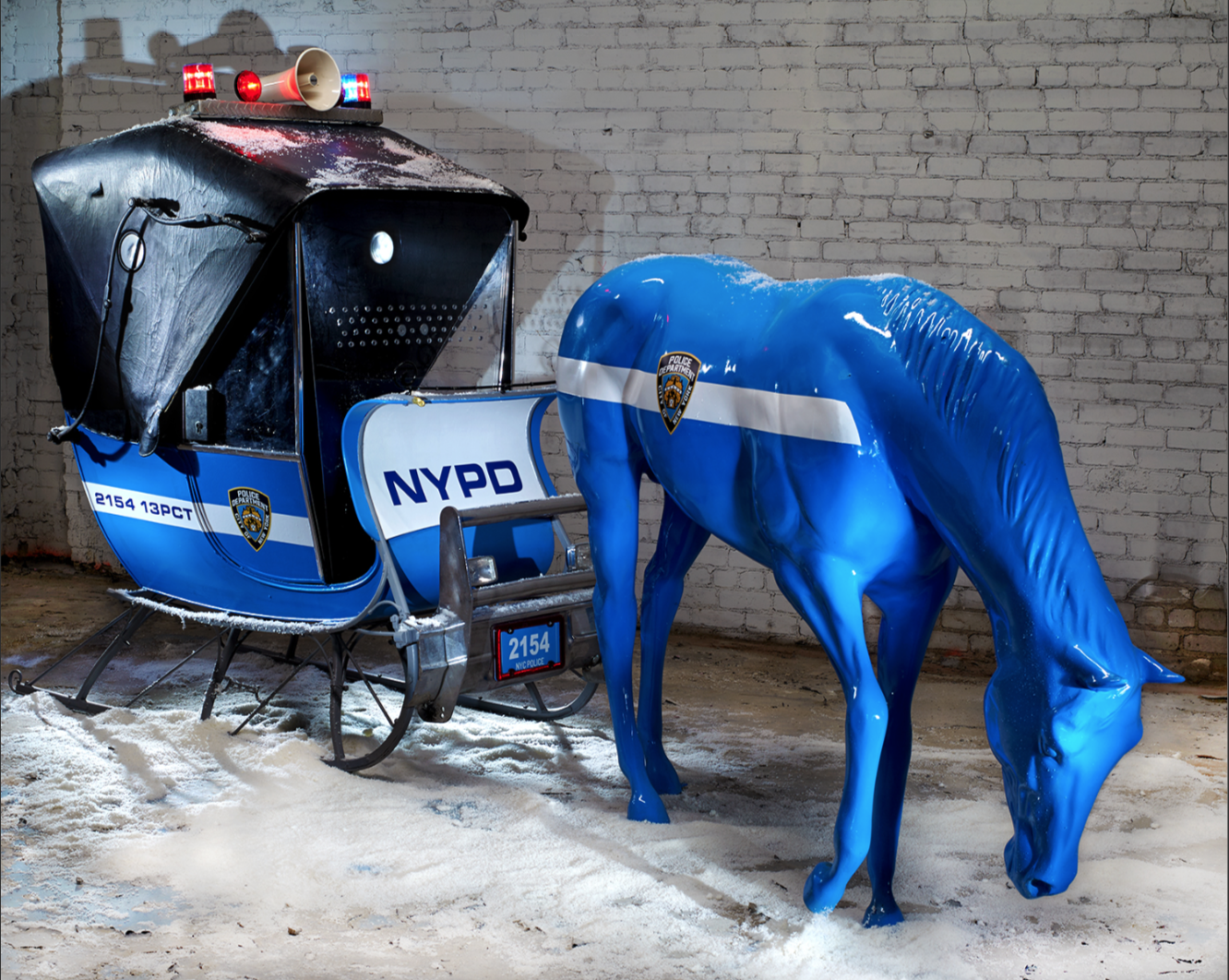 NYPD Police Sleigh